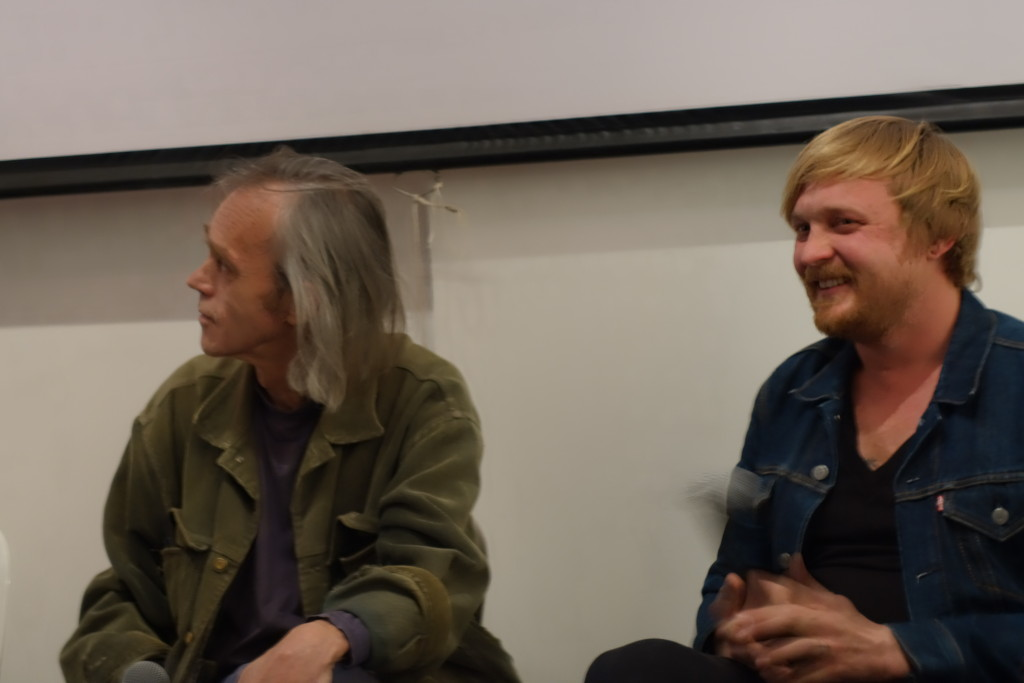 Gary Herselman and Francois Coke take part in a panel discussion at the Shifty September celebrations. September 2014