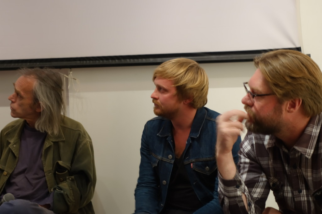 Gary Herselman, Francois van Coke and Andries Bezuidenhout take part in a panel discussion at the Shifty September celebrations. September 2014.