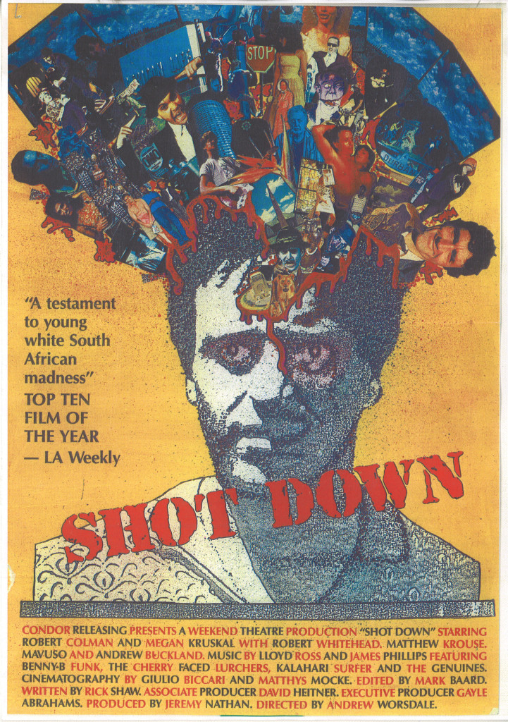 The Promotional Poster for the movie Shot Down.  Used with kind permission of Andrew Worsdale.