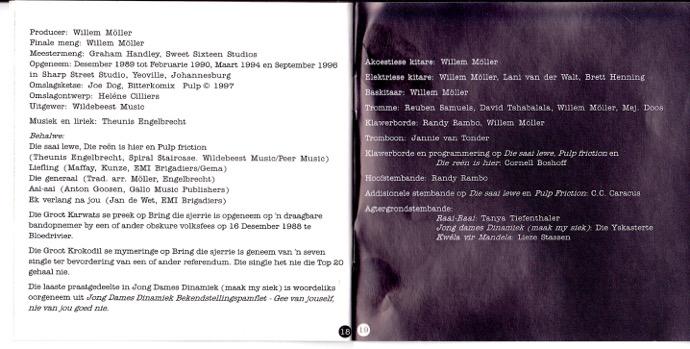 Credits for the album Die Saai Lewe by Die Naaimasjiene